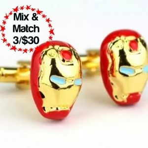 Ironman Marvel Red & Gold Cuff Links